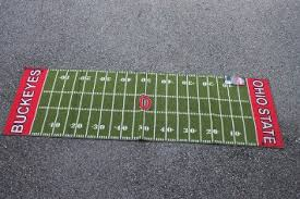 Ohio State Runner Rug Buy Ohio State Buckeyes Field Runner Football Rug 22 X 74 In