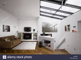 wimbledon village house london modern open plan living room with
