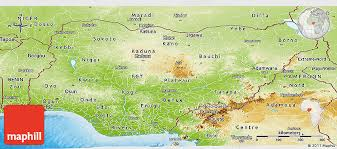 nigeria physical map physical panoramic map of nigeria