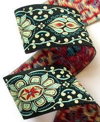 ribbon by the yard woven jacquard ribbon collection22b 1 7 8 x 1 yard black