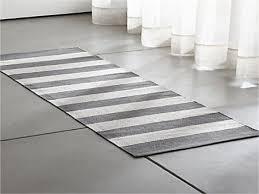 Grey Runner Rug Black And White Striped Runner Rug With Border Grey Stripe Cotton