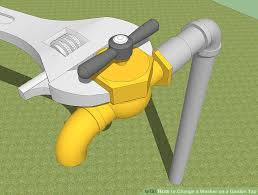 How To Fix Outdoor Faucet How To Change A Washer On A Garden Tap With Pictures Wikihow