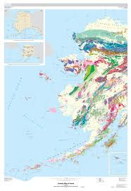map of aleutian islands generalized usgs geologic map of alaska and aleutian islands