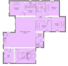 plan 4 chambres plain pied 135 m 4 chambres plain pieds architecture house