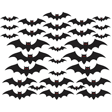 witch cutouts halloween amazon com halloween cemetery bat cutouts mega value pack 30