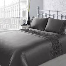 charcoal bedding karina bailey sienna rouche duvet set double bedding b m