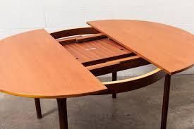 mid century oval dining table mid century round or oval danish teak dining table amsterdam modern