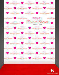 custom photo backdrops custom wedding bridal shower step and repeat backdrop for