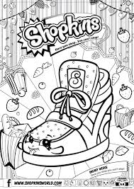 shopkins sneaky wedge coloring pages printable