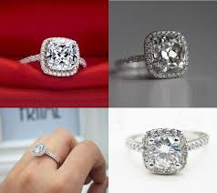 cushion diamond ring cushion cut ring sugar cotton