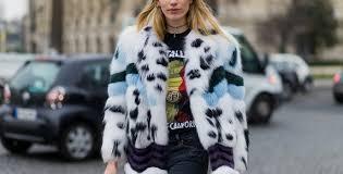 как носят мех гости недели моды 2017 в париже нессис жилетки