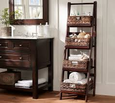 Bathroom Storage Ladder Enchanting Bathroom Benchwright Ladder Floor Storage Pottery Barn