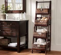 Small Bathroom Floor Cabinet Enchanting Bathroom Benchwright Ladder Floor Storage Pottery Barn