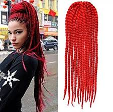 red cornrow braided hair amazon com red color crochet braid hair extensions hair braids