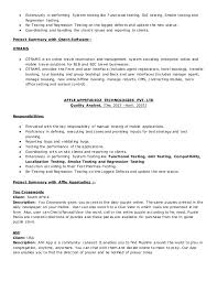 Testing Resume Sample For 2 Years Experience Gui Testing Resume Download Selenium Resume Qa Tester Resume