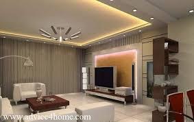 Modern Whitegray False Ceiling Design In Living Room Living - Living room pop ceiling designs