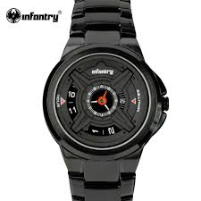 black bracelet mens watches images Infantry military watch men black army quartz wristwatch mens jpg