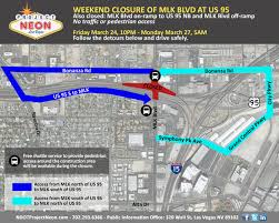 Map Of Las Vegas Nv Martin Luther King Boulevard Closure March 24 27 In Downtown Las