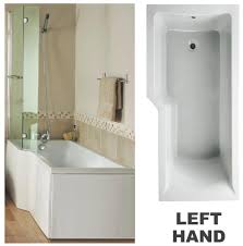 l shaped baths ryans direct synergy m100lh angular 1700 showerbath only 0th left hand white l shaped 1700 x 700 850