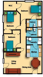 Floor Plan For 3 Bedroom Flat by Gallery Place Apartments Gillespie Group