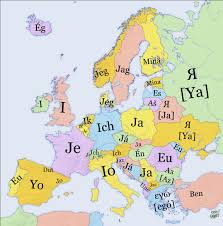how do you say map in mapsontheweb how to say i in various european languages