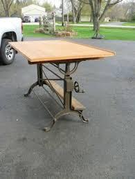 Drafting Table Furniture Industrial 1940 Vard Cast Aluminum Drafting Machine Table