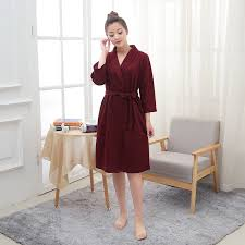 lightweight waffle dressing gown waffle robes supplier