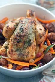 cuisiner le coquelet une recette de coquelet aux châtaignes et aux raisins