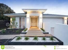 white contemporary house exterior stock photo image 49002493