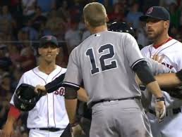 benches clear at fenway after headley porcello jaw thescore com