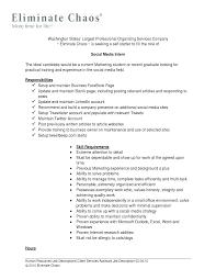 resume exles for media internships intern resume description sidemcicek com