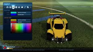 how to make a gold paint job in rocket league youtube