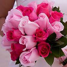 hot pink roses buy royal bridal bouquets with pink and light pink roses