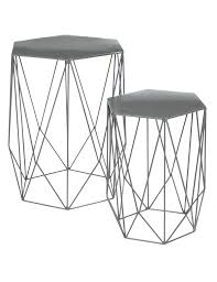 wire nest of tables grey m u0026s