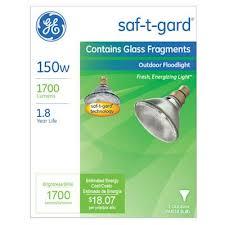 150 Watt Incandescent Flood Light Bulbs Ge 150 Watt Saf T Gard Outdoor Floodlight Bulb Model 48037