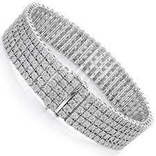 diamond bracelet sterling silver images Mens sterling silver bracelets 5 row diamond bracelet 0 81ct jpg