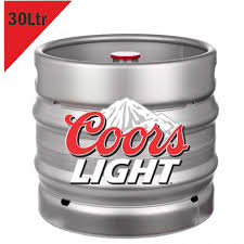 how much is a keg of coors light coors light barrel 30l the buying group spain