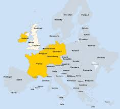 germany europe map view map european countries covered the aa