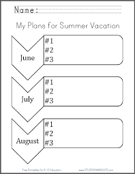 summer holiday planner template vacation planning worksheet expin franklinfire co