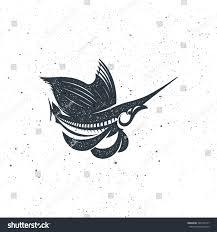 marlin fish logo emblem template your stock vector 726764137
