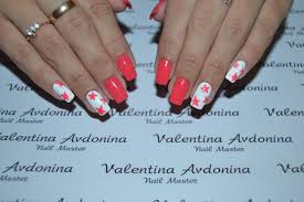 coral and white nails the best images bestartnails com