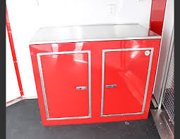 V Nose Enclosed Trailer Cabinets by Neo Trailer Cabinets
