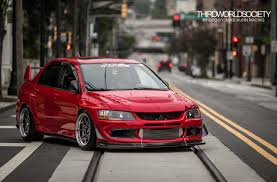 mitsubishi evo stance bride illest boost low evolution flush stance jdm evo lowered
