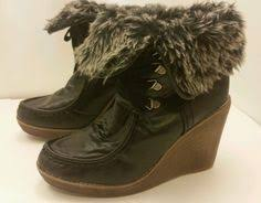 womens xappeal boots xappeal s size 9 brown lace up boho made hippie 2 5