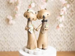 otter cake topper sea otter wedding cake topper by bonjour poupette