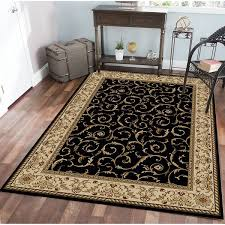 3 X 4 Area Rug Admire Home Living Amalfi Scroll Black Ivory Area Rug 3 3 X 4 11