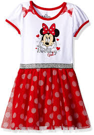 Minnie Mouse Clothes For Toddlers Amazon Com Disney Girls U0027 Minnie Mouse Birthday Dress Clothing