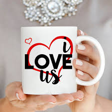 cute couples romantic gift mug for husband and wife we decided on