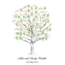 tree guest book personalised thumbprint tree guest book by appleberry press