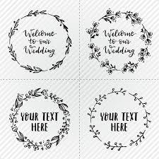 Wedding Wreaths Simple Wedding Wreaths Vector Free Download